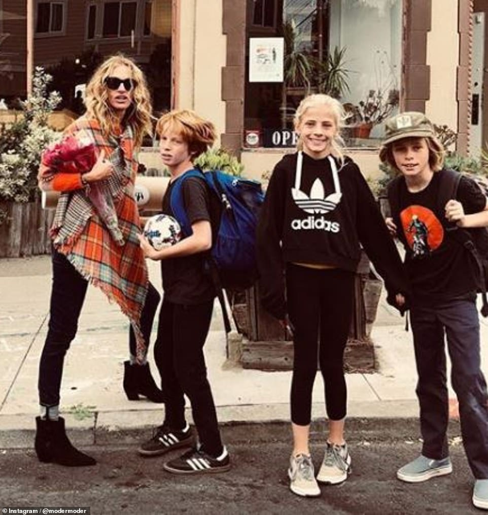Hazel Moder with her friends from Our Lady of Mercy School in Los Angeles
